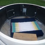 King air mattress inside observatory