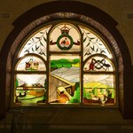 beautiful stained glass window feature