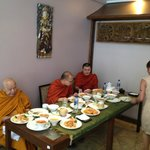Monks blessing on our 1st Birthday