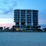 South beach biloxi at sunset.