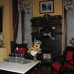 Parlor with all kinds of vintage games, like Chinese Checkers