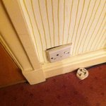 Plug in room for trouser press looks bad