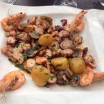 Mixed seafood dish.  Delicious!