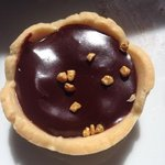 chocolate tart with salted caramel and hazelnuts. My favourite treat