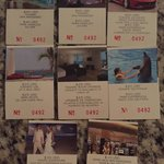 Example of coupons for $800 resort credit.