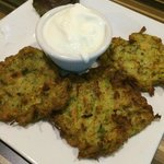 zucchini fritters known as mücver