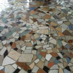 Handmade Tile Floor in rooms and dinning room