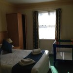 Bedroom - we have a double bed, plus a single and room for a cot too