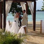 Out wedding on the beach at CN
