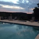 Pool on the hill - great for watching the sunsets