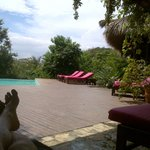 at the pool and spa...