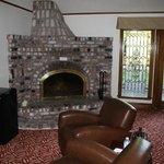 Fireplace in the fountain room