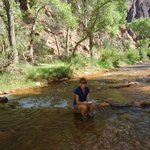 Chillin' in Bright Angel Creek @ Phantom Ranch