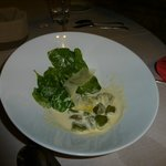 spinach gnocchi in lemon cream!