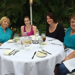 Dining with great friends at The Veranda