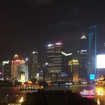 Beautiful light of Pudong at night taken from The Bund