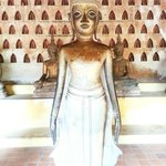 One of the many  Buddha statues in the temple