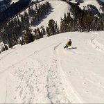 Skiing Teton Pass, not far from Targhee