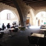 Eat out under the arches in the town square