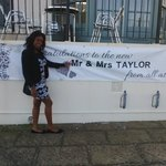 The banner which made us feel special