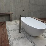 Outdoor tub and shower Villa #1
