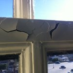 Peeling paint on window frame #1