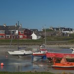 Scarinish Hotel and harbour, Tiree