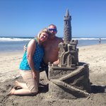 """Great Anniversary spent with JT making this amazing """" Sand Castle"""""""