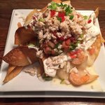 Shrimp and Crab Nachos are outstanding