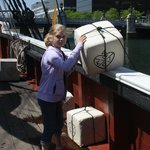 Throwing tea into the harbor!