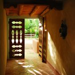 The sunlit entryway