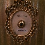 Press this button for champagne.