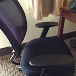Very comfortable desk chair/s. I'm trying to show the lumbar support