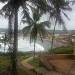 Outside view of Kovalam beach