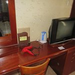 Desk and TV room 402