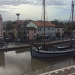Canal in Cesenatico - taken from hotel breakfast room