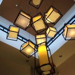 lovely chandelier at Hilton Garden Inn Kalispell