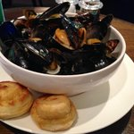 Fresh mussels at One Under pub