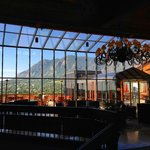 Lobby view, overlooking the mountains