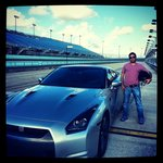 Me and the Nissan GTR at Miami Exotic Auto Racing