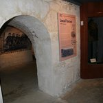 Inside the building