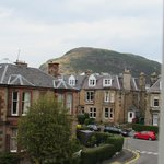 A quiet neighborhood with a beautiful view of Arthur's Seat