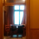 Large and comfortable dining room with great windows in the Royal Apartment