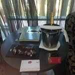 Ordered chocolate dipped strawberries and bubbles for our arrival- delicious!