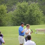 The Texas Pledge before starting the Texas Association of Business BACPAC Golf Tournament