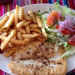 My meal. Grilled fish.