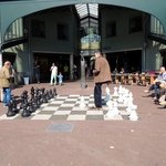 Chess on the sidewalk