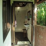the traditional Balinese bath is located outside the house