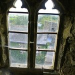 Looking out of a window in the castle
