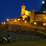 Tossa de Mar castle at night